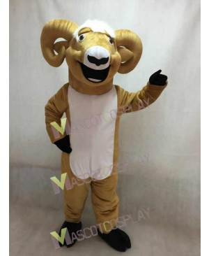 Cute Ram Mascot Costume with White Belly