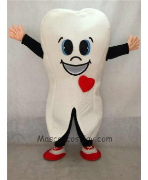 High Quality Cute White Tooth for Dentist Clinic Adult Mascot Costume