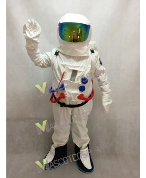 Astronaut Space Suit with Oxygen Bag Mascot Costume