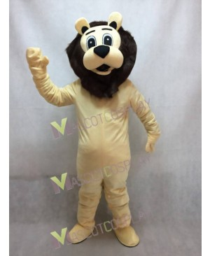 Lion with Dark Brown Mane Adult Mascot Costume