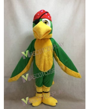 New Green Polly Parrot Bird Mascot Costume
