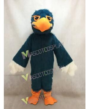 Custom Color Dark Blue Fighting Hawk Mascot Costume
