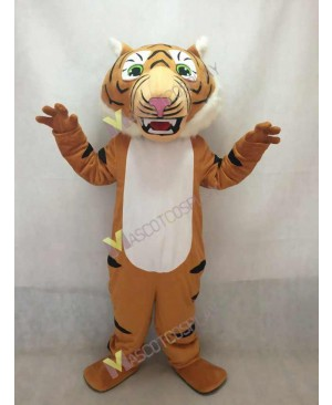 Cute Super Black Stripe Tiger Mascot Costume