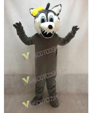 New Big Bad Gray Female Wolf Mascot Costume
