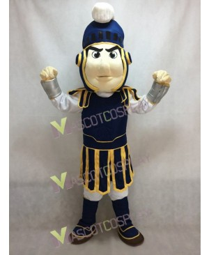 Custom Color Dark Blue with Yellow Edge Spartan Trojan Knight Sparty Mascot Costume