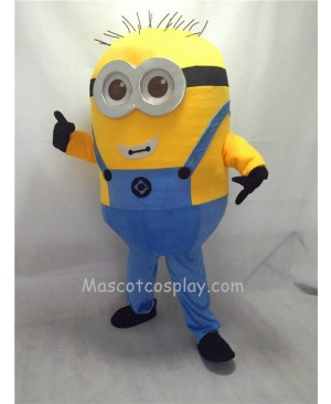 Cute Despicable Me Minions with Glasses Mascot Costume B
