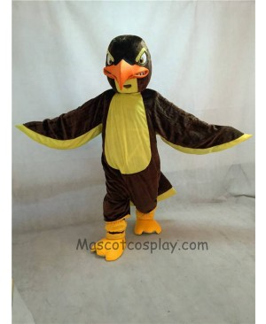 High Quality Adult New Fierce Brown and Yellow Falcon Mascot Costume
