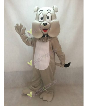 High Quality Adult Gray Cartoon Bulldog Mascot Costume