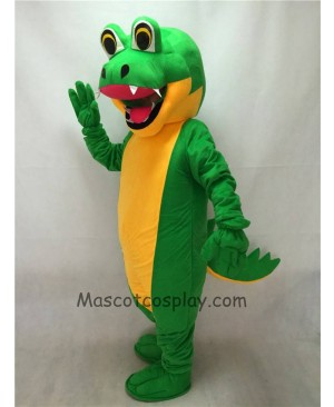 Fierce Adult Green Gator Mascot Costume