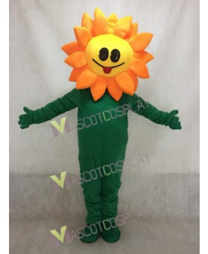 New Orange Sunflower Mascot Costume