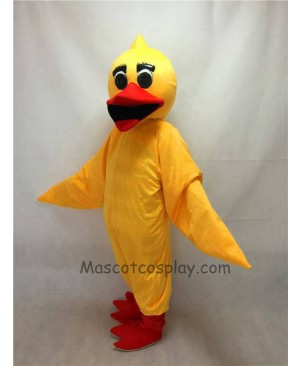 Cute Yellow Duck Mascot Costume