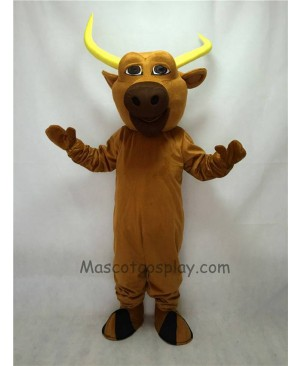 Cute Brown Texas Longhorn Mascot Costume