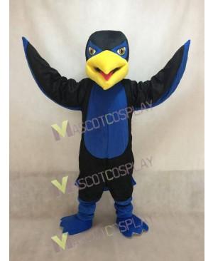 New Black and Blue Hawk Falcon Mascot Costume