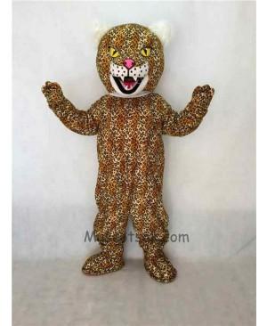 Fierce Yellow Leopard Mascot Costume