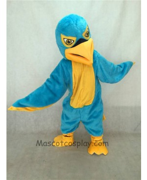 High Quality Adult Blue and Yellow Hawk / Falcon Mascot Costume
