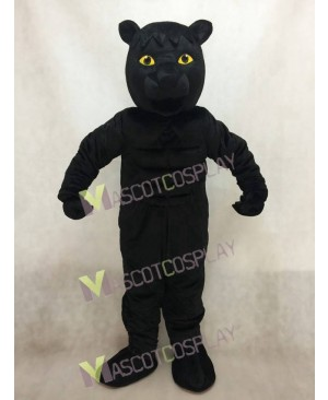 Black Muscled Panther Mascot Costume