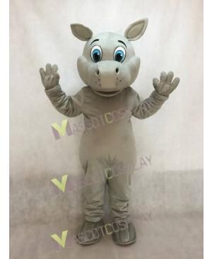 New Grey Hippo Hippopotamus Mascot Costume