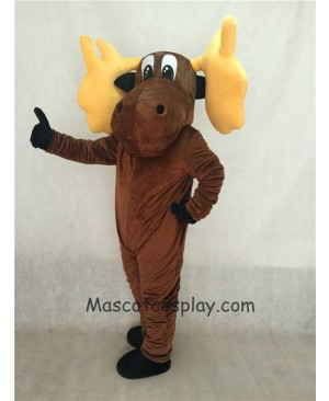Cute Cartoon Moose Mascot Costume