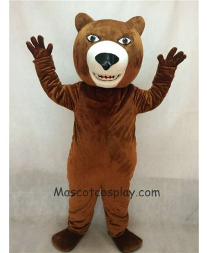 High Quality Realistic New Friendly Fierce Brown Grizzly Bear Mascot Costume
