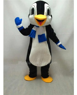 Cute New Penguin Mascot Costume with Blue Scarf