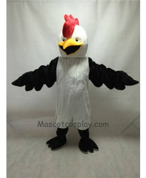 Cute White Bug Eyed Chicken Mascot Costume