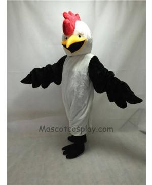 Cute White Bug Eyed Chicken Mascot Costume