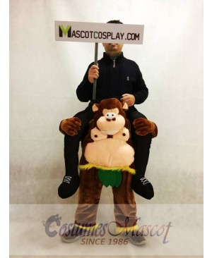 Piggyback Carry Me Ride on Big Belly Cheeky Monkey Mascot Costume