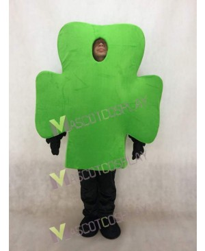Green Shamrock Mascot Costume