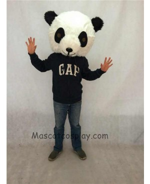 High Quality Realistic New Friendly Black And White Panda Plush Adult Funny Mascot Head ONLY