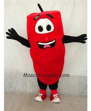 High Quality Realistic New Friendly Red Hot Pepper Mascot Costume with Smile