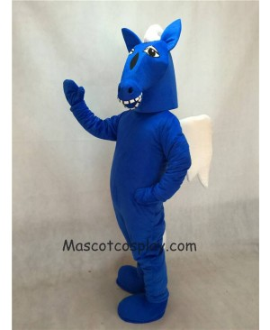 High Quality Realistic New Winged Horse Blue Pegasus Horse Mascot Costume
