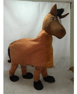 Cute Brown New 2 Person Horse Mascot Costume