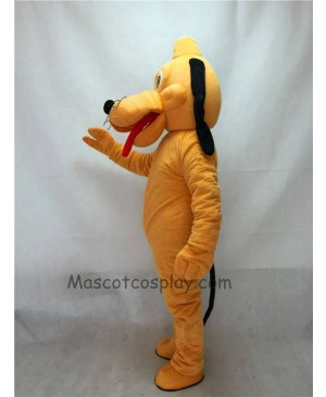 Cute Orange Pluto Dog Mascot Adult Costume