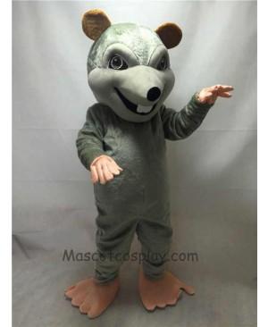 New Gray Rink Rat Mascot Costume