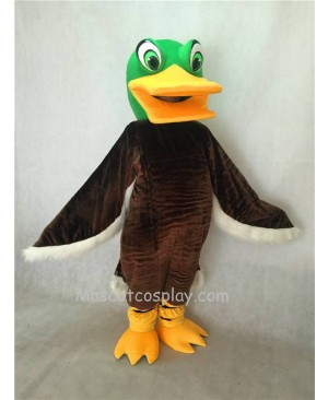 Hot Sale Adorable Realistic New Green Head Brown Mallard Duck Mascot Costume