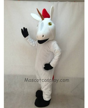 Cute New White Unicorn Mascot Costume
