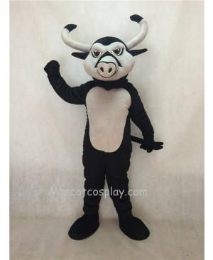 Hot Sale Adorable Realistic New Black Longhorn Mascot Costume