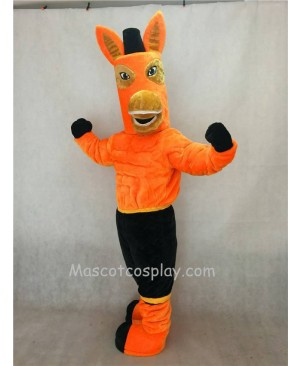 Hot Sale Adorable Realistic New Brown Jack Mule Mascot Character Costume Fancy Dress Outfit
