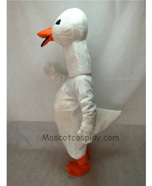 Cute White Goose Mascot Costume