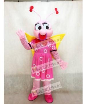 Lady Pink Bee Fenfendu Mascot Costume