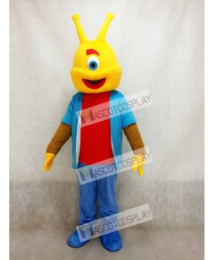 Cute Alien Short Plush Funny Adult Mascot Costume