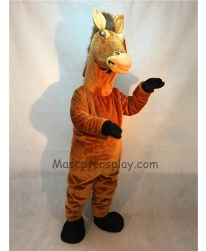 Fierce Brown Stallion Horse Mascot Costume