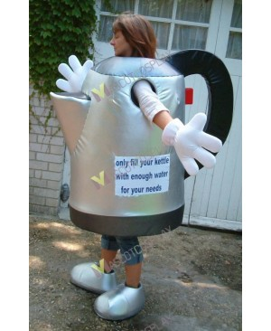 High Quality Adult Silver Kettle Mascot Costume