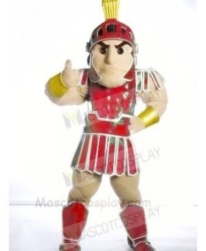 Red Spartan Trojan knight Mascot Costume