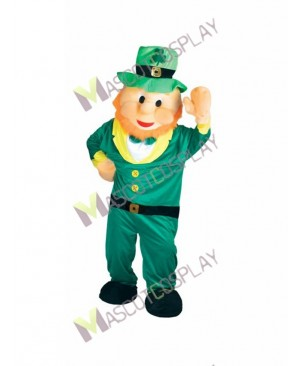 High Quality Adult Leprechaun Irish Elf Mascot Costume