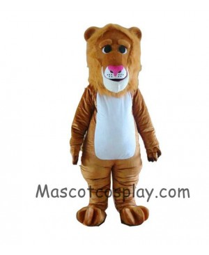 High Quality Realistic New Brown Lion Mascot Costume with Long Mane