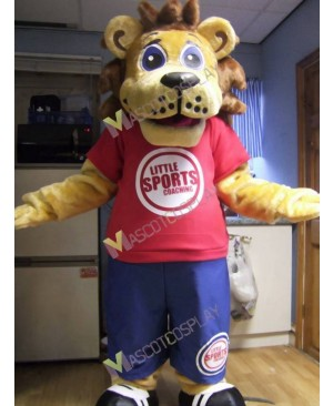 High Quality Adult Little Sports Coaching Lion Mascot Costume