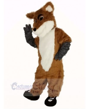 Fox with Black Shoes Mascot Costume Fancy Dress