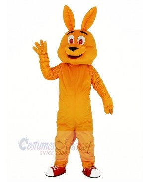 Orange Kangaroo Mascot Costume Cartoon