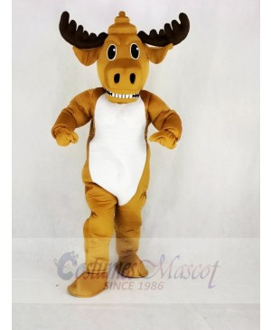 Strong Power Muscly Moose Mascot Costume Cartoon